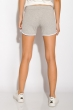 Шорты спортивные женские 317F043 с окантовкой светло-серый меланж