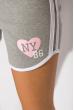 Шорты спортивные женские 317F043 с окантовкой светло-серый