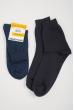 Носки мужские однотонные, темные №21P002 черный