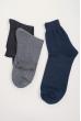 Носки мужские однотонные, темные №21P002 темно-синий