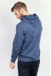 Батник мужской с капюшоном  185F145 джинс