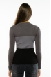 Пуловер женский с V-образным вырезом 618F074 грифельно-серый