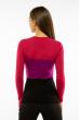 Пуловер женский с V-образным вырезом 618F074 малиново-фиолетовый