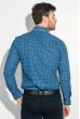 Рубашка мужская двухцветный горошек 50PD6249 сине-белый