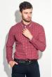 Рубашка мужская двухцветный горошек 50PD6249 бордово-серый