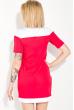 Платье женское с классическим воротничком 74P138 красно-белый