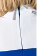 Платье женское с классическим воротничком 74P138 электрик / белый