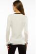 Пуловер женский с V-образным вырезом 618F402 молочный