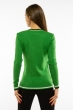 Пуловер женский с V-образным вырезом 618F402 зеленый
