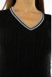Пуловер женский с V-образным вырезом 618F402 черный
