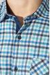 Рубашка мужская теплая, воротник на пуговицах 50PD0041 бело-голубой