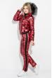 Костюм женский (Куртка, Штаны)  80PD1353 бордо металик