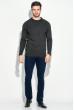 Брюки мужские стильные, приятный материал 08P130 темно-синий