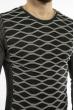 Джемпер с геометрией 617F50265 темно-серый