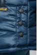 Куртка женская зимняя, однотонная, на молнии 74PD800 темно-синий