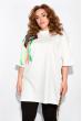 Платье-туника с нашивками 120PRU1970 молочный