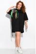 Платье-туника с нашивками 120PRU1970 черный