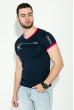 Футболка мужская в стиле Casual  81P0110 темно-синий