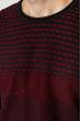 Свитер тонкой вязки 520F022 темно-синий / бордовый