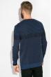 Джемпер тонкой вязки 520F022 джинс-черный