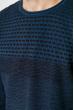 Свитер тонкой вязки 520F022 джинс-черный