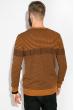 Джемпер тонкой вязки 520F022 светло-коричневый / темно-синий