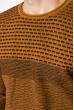 Свитер тонкой вязки 520F022 светло-коричневый / темно-синий