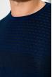 Джемпер тонкой вязки 520F022 темно-синий / бордовый
