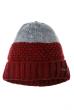 Шапка зимняя, двухцветная 65P1726 бордово-серый