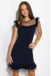 Платье 103P002 темно-синий