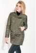 Куртка женская удлиненная 80PD1211 темный хаки