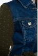 Куртка женская джинсовая 120PEL006 сине-оливковый