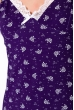 Ночная сорочка женская 107P4-1 фиолетовый / принт
