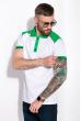 Поло с контрастными вставками 120PELL412-1 бело-зеленый