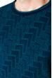 Свитер 520F013 бирюзово-синий