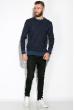 Свитер 520F013 темно-синий / джинс