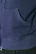 Толстовка мужская на змейке 117V001 темно-синий