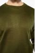 Джемпер однотонный 604F001 оливковый