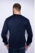 Джемпер однотонный 604F001 темно-синий меланж