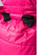 Куртка женская с бантом на поясе сзади 69PD590 малиновый