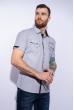 Рубашка с коротким рукавом 199P0118 серо-белый