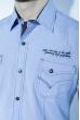 Рубашка с коротким рукавом 199P0118 бело-синий