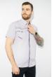 Рубашка с коротким рукавом 199P0118 бело-сиреневый