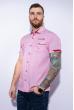 Рубашка с коротким рукавом 199P0118 красно-белый
