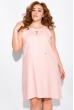 Льняной сарафан 120PUR090-1 розовый