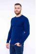 Джемпер с комбинированной вязкой 520F017 темно-синий