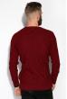 Джемпер с комбинированной вязкой 520F017 бордовый