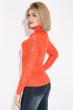 Гольф женский с перфорацией  131V003 морковный