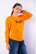 Свитшот женский 600F033 оранжевый