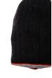 Шапка мужская с цветным ободком 254V001-1 черно-серый